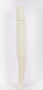 Noga drewniana toczona biała NPD002